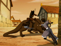Katara fighting Vachir