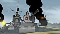Battleship cannons
