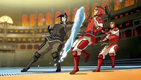 Tahno attacking Korra
