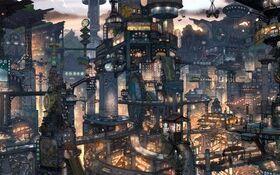 Anime city win7 theme by saturdaysx-d303b37