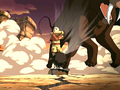 Aang airbending to save Sokka.png
