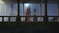 Korra telling Tenzin about Amon