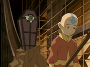 Aang talks with Bumi