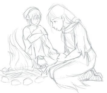 Guifu and toph campfire