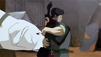 Bolin hugging Korra