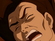 Ozai cries out in pain