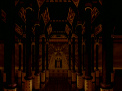 Dark throne room