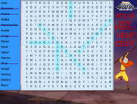 Word Search solved words
