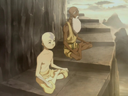 Aang clears his chakras.png