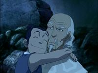 Sokka hugs Pakku
