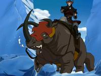 Komodo rhino at the North Pole