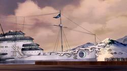 Unalaq's yacht