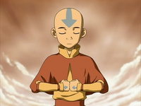 Aang meditates