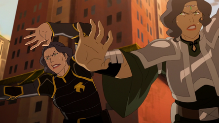 File:Lin and Suyin earthbending together.png