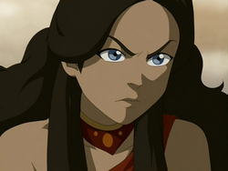 Fire Nation Katara yells