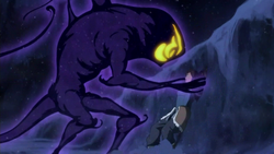 Dark spirit attacking Korra
