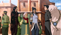 Yin with Asami, Korra, and Mako