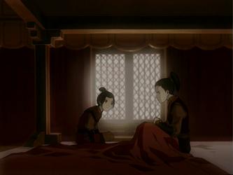File:Azula telling Zuko of Ozai's punishment.png