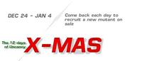 NAT-The 12 days of Uncanny X-MAS