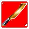 Golden Glazed Ceramic Knife