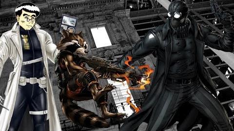 PVP 27 ROCKET RACCOON SPIDER-MAN NOIR (Adamantium League) Marvel Avengers Alliance Agent ANNHE