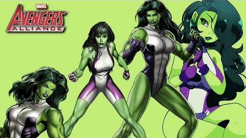 SHE-HULK's Moves Set Marvel Avengers Alliance Conjunto de Movimientos de Mujer Hulk Jennifer Walters
