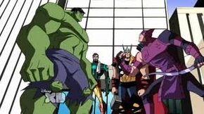 Hulk vs hawkeye