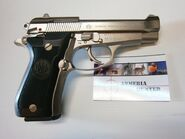 Beretta 84FS nickel