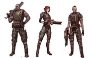 Concept art for Aliens Colonial Marines (Damarcus, Jennifer and Quintaro)