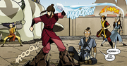 Zuko, Katara, and Aang attack Azula.png