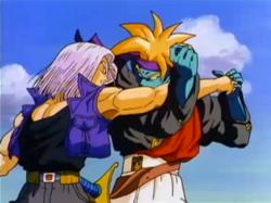 Trunks Fighting Kogu in Bojack Unbound 2
