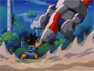 Goku Stops the Sigma Force's Drill