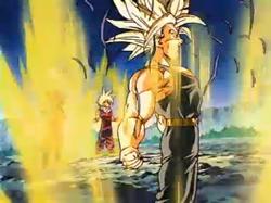 Trunks Having Transformed into an Ascended Super Saiyan