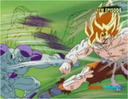Super Saiyan Goku & Frieza Fighting 2
