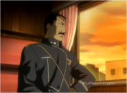 Fuhrer King Bradley Departing From Liore in the Original Anime
