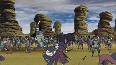 Madara battling the Fourth Division