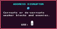 Address Disruptor Pickup