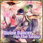 Divine Dancer in the Snow Square