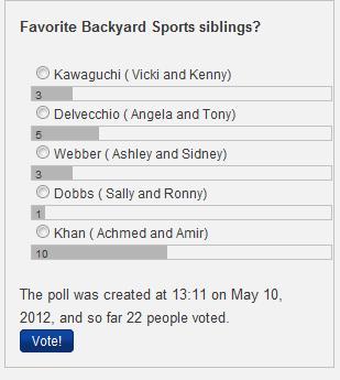 Siblings poll