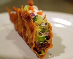 Bacon-shell taco