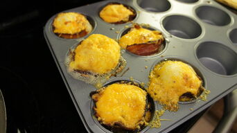 Cheese and bacon in tins 2