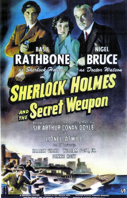 File:Sherlock Holmes and the Secret Weapon - 1943 - Poster.png