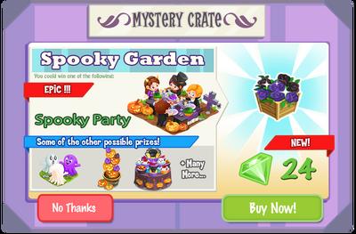 Spooky Garden crate