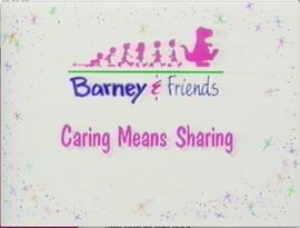 Caring Means Sharing Title Card