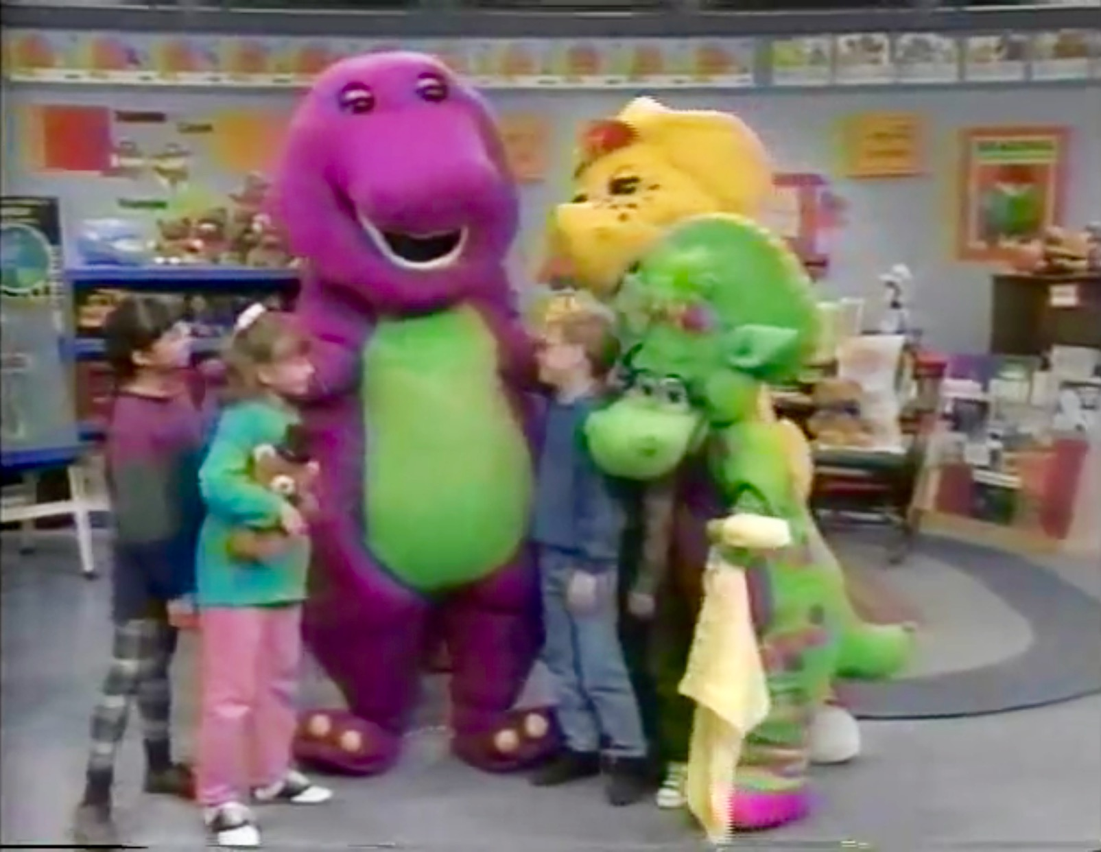 comparing sesame street to the famous barney and friends Kids get to make their own bubble wands and compare the sizes with your favorite sesame street ® friends outing from the sesame street ® character famous for.