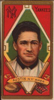 Jimmy Austin baseball card