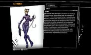 Catwoman bio-Batman Arkham Asylum