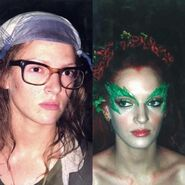 Poison Ivy (Uma Thurman) Before and After