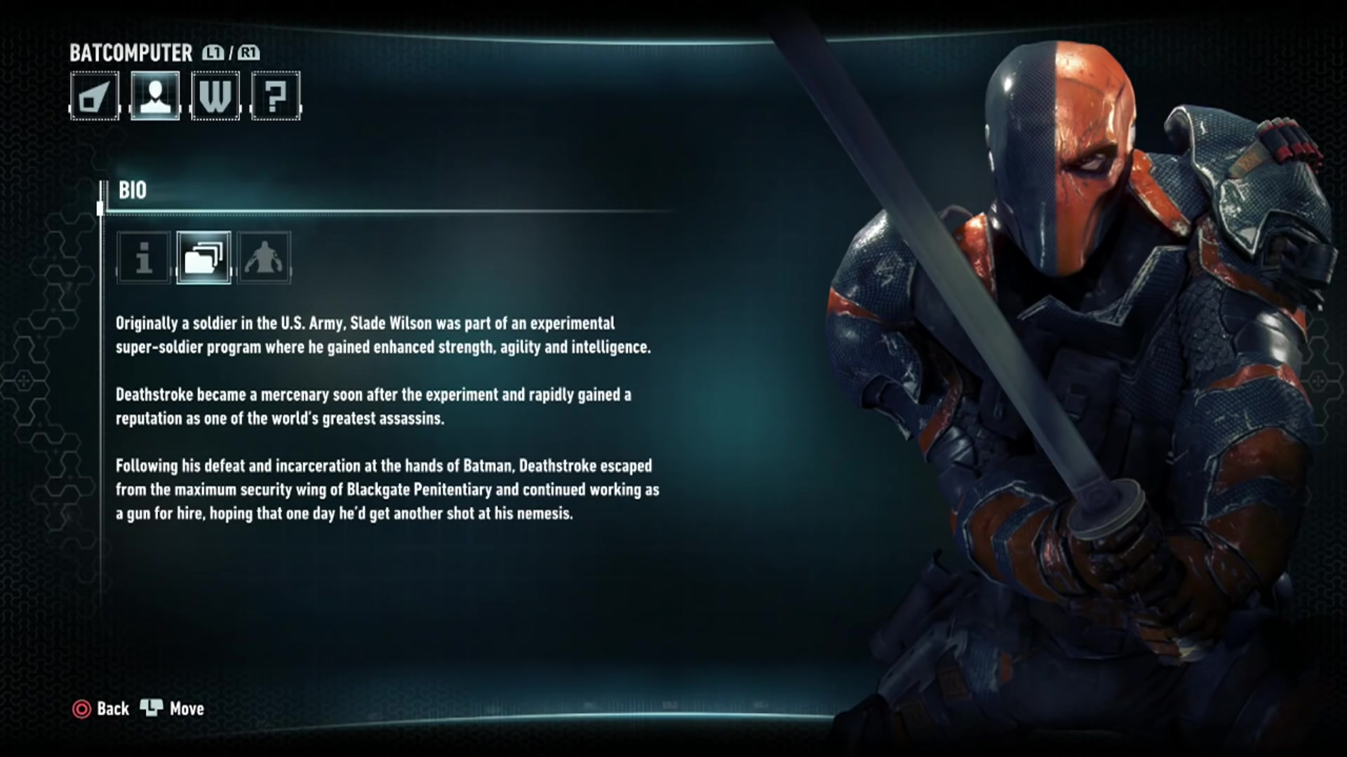 Image - Batman Arkham Knight Character Bios Deathstroke ...
