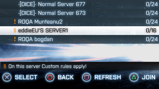 Custom Server symbol